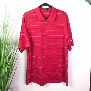 nike golf fit Dri shirt in red